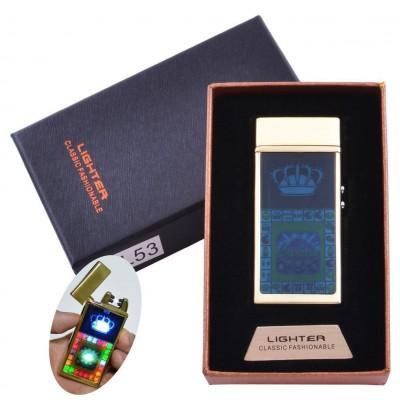 Зажигалка в подарочной коробке Casino (Двойная молния) №HL-53 Gold