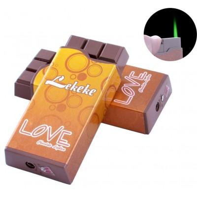 Зажигалка карманная Шоколад Love (Турбо пламя) №2376-2