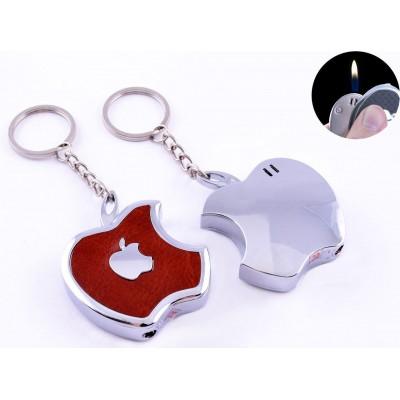 Зажигалка-брелок Apple (Обычное пламя) №4047 Коричневый