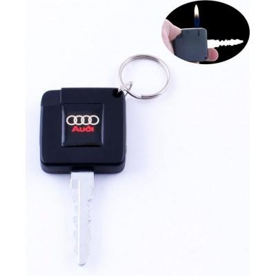 Зажигалка карманная ключ авто AUDI (обычное пламя) №2088-2