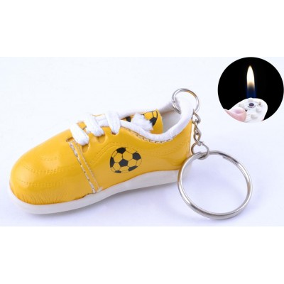 Зажигалка карманная кроссовки (обычное пламя) №2553 Жёлтый