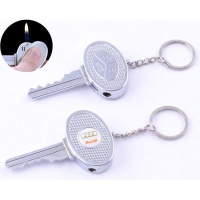 Зажигалка карманная ключ авто AUDI (обычное пламя) №4202-3