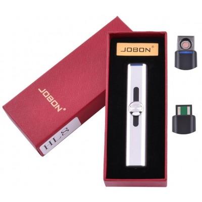 USB зажигалка в подарочной упаковке Jobon (Спираль накаливания) №HL-8 Silver