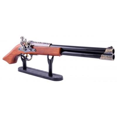 Зажигалка сувенирная мушкет двухствольный (Турбо пламя) №4418