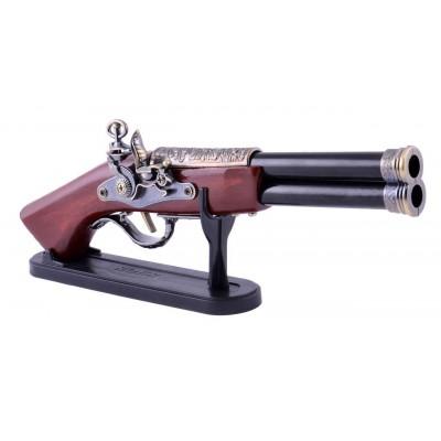 Зажигалка сувенирная мушкет двухствольный (Турбо пламя) №4420