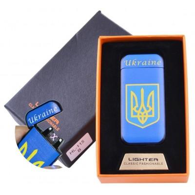 Электроимпульсная зажигалка в подарочной коробке Ukraine №HL-115-4