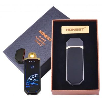 USB зажигалка в подарочной коробке HONEST (Спираль накаливания) №HL-98-3