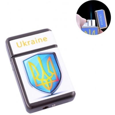Зажигалка карманная Ukrain (Острое пламя) №HL-113-1