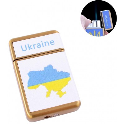 Зажигалка карманная Ukrain (Острое пламя) №HL-113-2