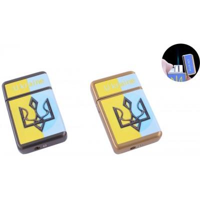 Зажигалка карманная Ukrain (Острое пламя) №HL-113-3