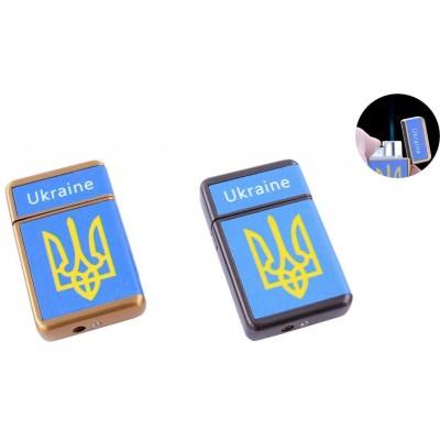 Зажигалка карманная Ukrain (Острое пламя) №HL-113-4