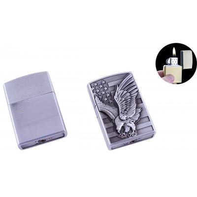 Зажигалка карманная Орел (Обычное пламя) №HL-117-2