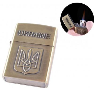 Зажигалка карманная (турбо пламя) №4174 Gold