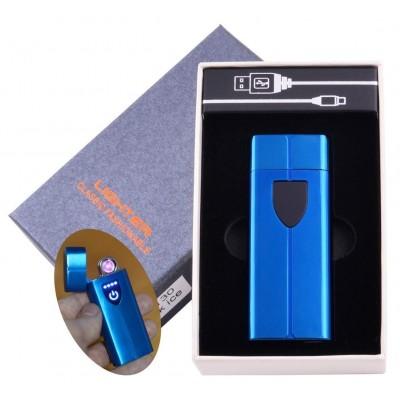 Электроимпульсная зажигалка в подарочной коробке LIGHTER (USB) №HL-130 Blue