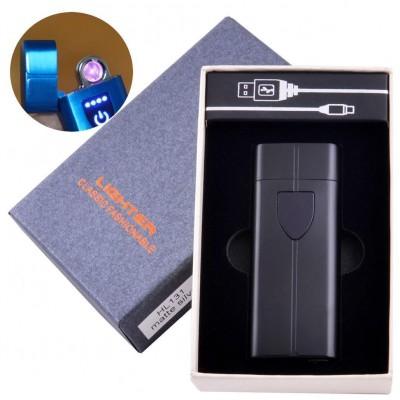 Электроимпульсная зажигалка в подарочной коробке LIGHTER (USB) №HL-131 Black