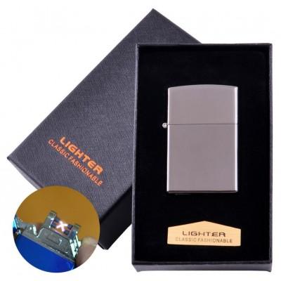 Электроимпульсная зажигалка в подарочной коробке LIGHTER (USB) №HL-136 Black