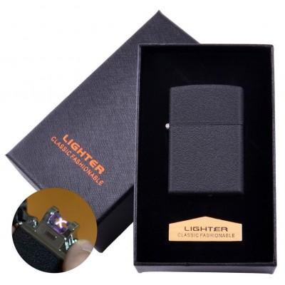 Электроимпульсная зажигалка в подарочной коробке LIGHTER (USB) №HL-137 Black