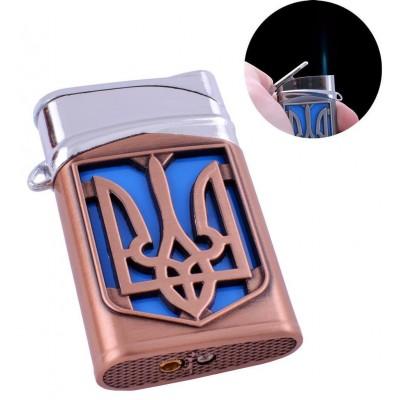 Зажигалка карманная Герб Украины (турбо пламя) №4112-3