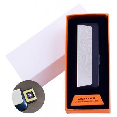 Электроимпульсная зажигалка в подарочной упаковке Абстракция (Двойная молния, USB) №HL-61-1