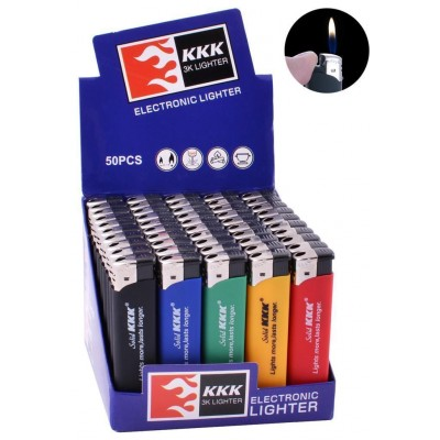 Зажигалка пластиковая KKK резина цветная №156S