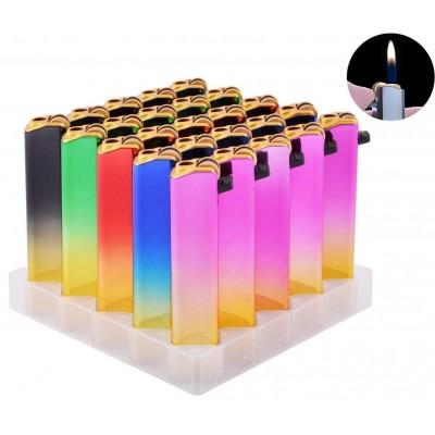 Зажигалка кремниевая пластиковая в металлическом корпусе  №156-M8M1