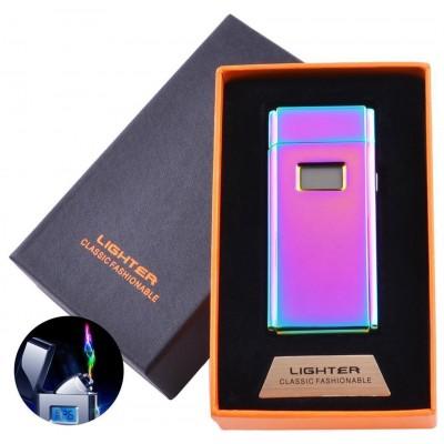 Электроимпульсная зажигалка в подарочной коробке Lighter (USB) №5005 Хамелион