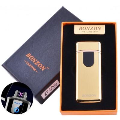 Электроимпульсная зажигалка в подарочной коробке Lighter (USB) №5009 Gold