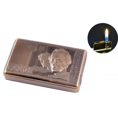 Зажигалка-слайдер карманная 100 Гривен (Обычное пламя) №2517-1
