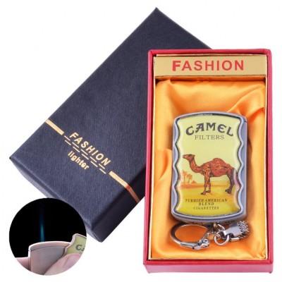 Зажигалка-брелок в подарочной коробке CAMEL (Острое пламя) №XT-92-1