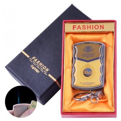 Зажигалка-брелок в подарочной коробке 555 (Острое пламя) №XT-92-2