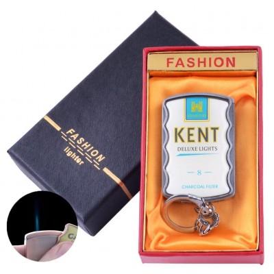 Зажигалка-брелок в подарочной коробке KENT (Острое пламя) №XT-92-4