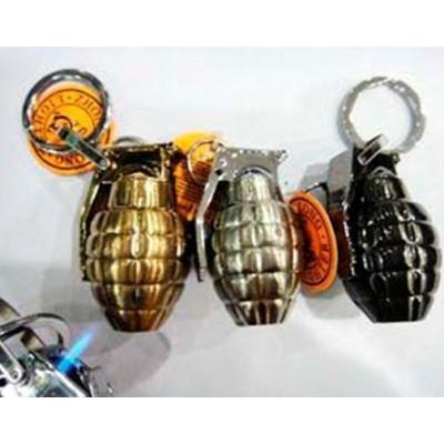 Зажигалка-брелок граната №3980