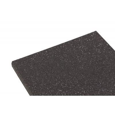 Фоамиран 1,8мм черный с глитером (10листов) арт.:7948