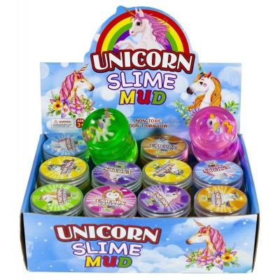 Слайм с игрушкой Unicorn 120г,mix,12шт/уп, арт.:1600