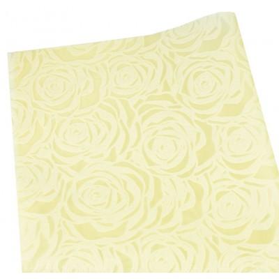 Флизелин 'Роза' 55х60см-20шт, тиснёный в листах, кремовый, PFD-R cream арт.:PFD-R cream