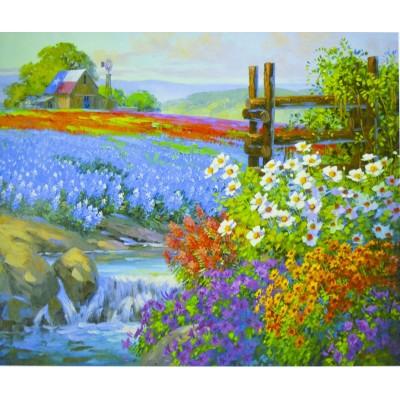 Картина по номерам 'Цветочное поле' 40*50см,крас.-акрил,кисть-3шт.(1*3 арт.:5303