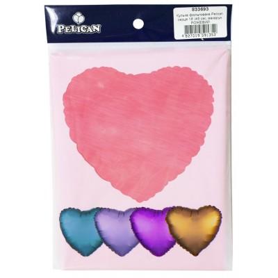 Шарик фольгированный PELICAN сердце 18 '(45см) макарун Розовый (5шт) арт.:833693