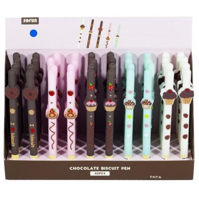 Ручка детская, 0,7мм, синяя, с запахом, сладости , Unison,  ZF1835 арт.:ZF1835