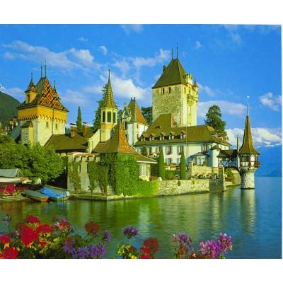 Картина по номерам на дереве 'Замок' 40*50см,крас.,кисти арт.:8154-D