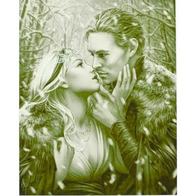 Картина по номерам 'Поцелуй' 40*50см,крас.-акрил,кисть-3шт. арт.:8104