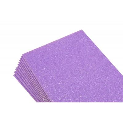 Фоамиран 1,8мм фиолетовый   с глитером - 10листов- самоклейка, 8687 арт.:8687