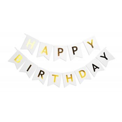 Гирлянда-флажки HAPPY BIRTHDAY 16см,белый 871055 арт.:871055