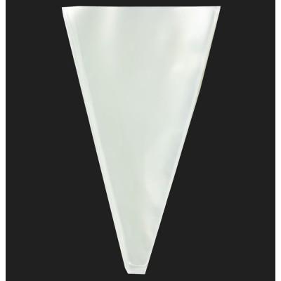 Пакет - конус для подарков целлофановый прозрачный 2х16х27 см арт.:PP400