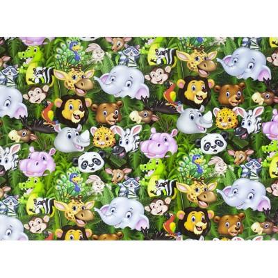 Мелованная бумага - мультяшные животные, Unison,   PVM10-112 арт.:PVM10-112