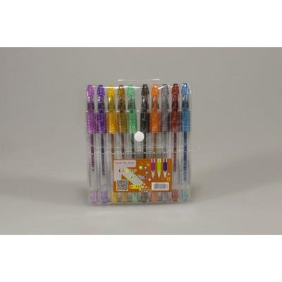 Ручки гелевые с глитером 10цв, Unison, арт.:M-1501-10