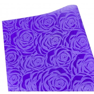 Флизелин 'Роза' 55х60см-20шт-тиснёный в листах,фиолетовый, PFD-R purpl арт.:PFD-R purple