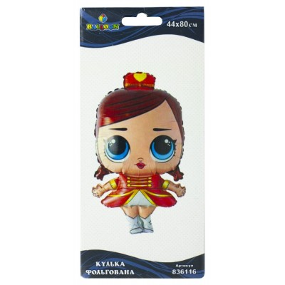 Шарик фольгированный Pelican, кукла LOL Majorette, 80см, 836116 арт.:836116