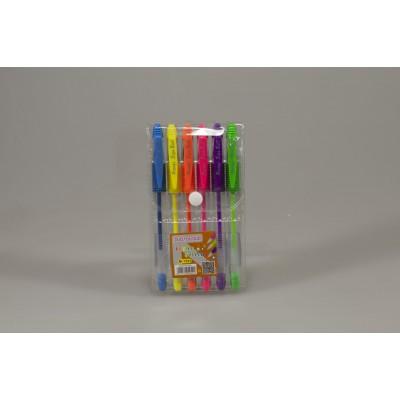 Ручки гелевые неоновые 6цв, Unison, арт.:M-1501-6