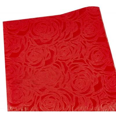 Флизелин 'Роза' 55х60см-20шт-тиснёный в листах,красный, PFD-R red арт.:PFD-R red