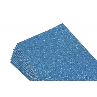Фоамиран 1,8мм синий с глитером -10листов- самоклейка, 8676 арт.:8676